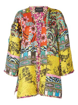 Etro norfork printed silk jacket
