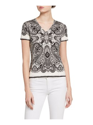 Etro Optic Paisley Jersey Top