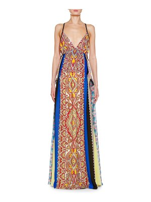 Etro Pacific Print Silk Georgette Gown