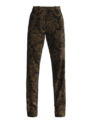 Etro paisley-brocade flared velvet trousers