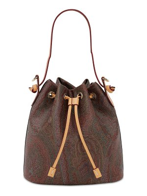 Etro Paisley print coated cotton bucket bag