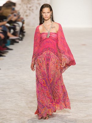 Etro paisley print embellished silk georgette gown