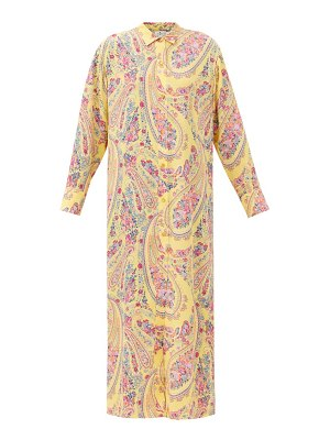 Etro paisley-print georgette shirt dress