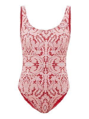 Etro paisley-print scoop-neck swimsuit