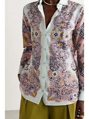 Etro paisley-print silk and cotton-blend shirt