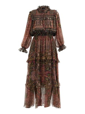 Etro paisley-print silk-georgette longline dress
