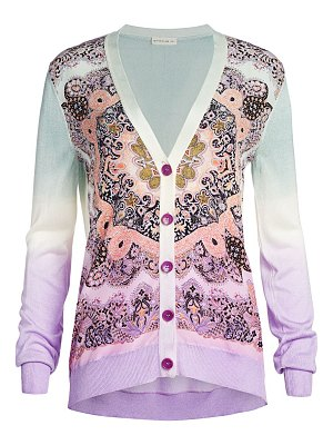 Etro paisley silk panel cardigan