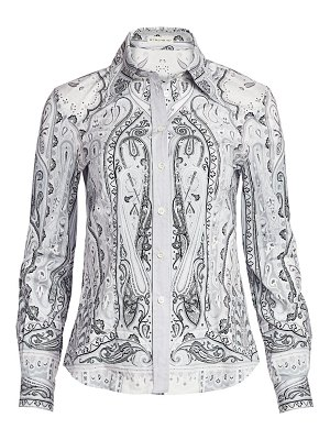 Etro paisley stretch-cotton shirt