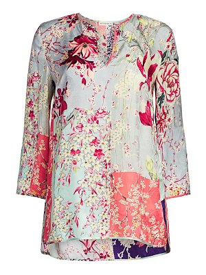 Etro patchwork floral tunic