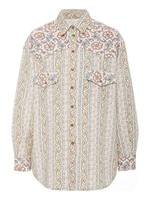 Etro patterned cotton-poplin button-up shirt