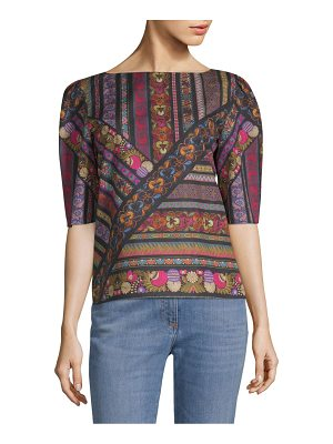 Etro printed cotton top
