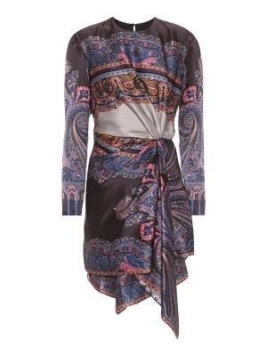 Etro Printed silk-satin dress