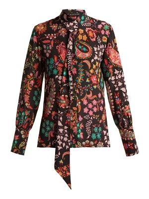 Etro pussy bow silk blouse