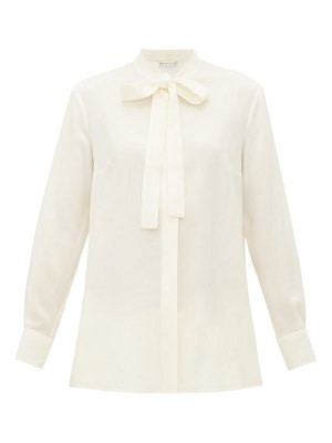 Etro pussy bow silk georgette blouse