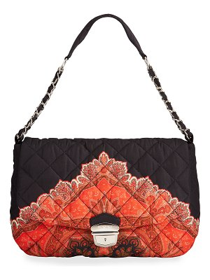 Etro Quilted Paisley-Print Chain Shoulder Bag