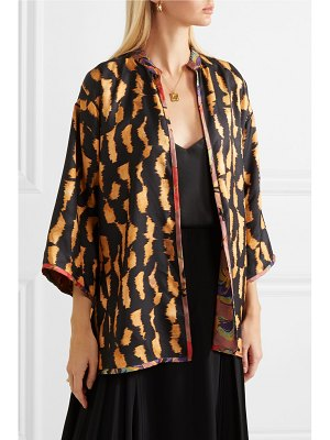 Etro reversible printed silk-twill jacket