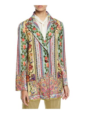 Etro Ribbon-Trim Wallpaper-Print Jacket