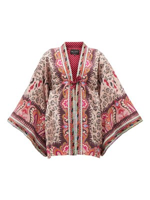 Etro rupee girl embroidered silk-blend jacquard jacket