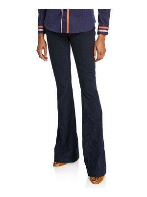 Etro Scroll Textured Boot-Cut Jeans