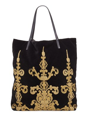 Etro Shopping Embroidered Pochette Tote Bag
