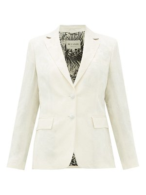 Etro single-breasted floral-jacquard jacket
