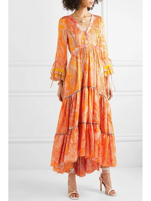Etro tiered printed silk crepe de chine gown