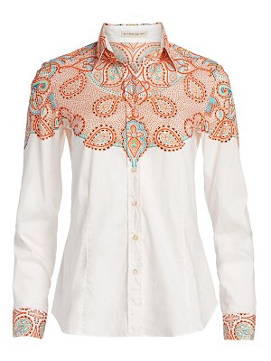 Etro western placed print blouse