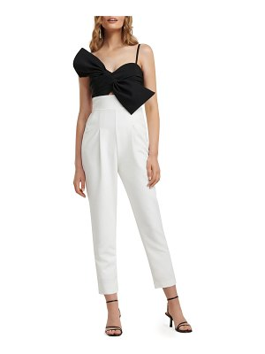 EVER NEW Bow-Bodice Two-Tone Jumpsuit
