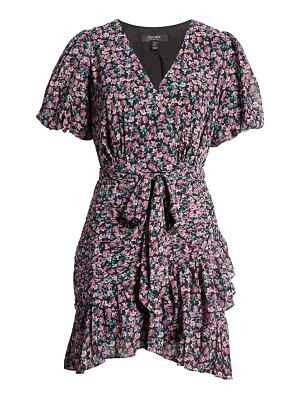 EVER NEW eleanor floral ruched minidress