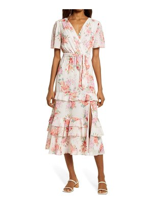 EVER NEW floral tiered ruffle dress