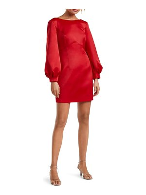 EVER NEW tazmin bow back long sleeve cocktail dress