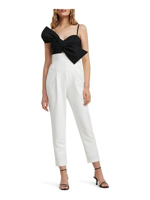 EVER NEW two-tone bow bodice jumpsuit