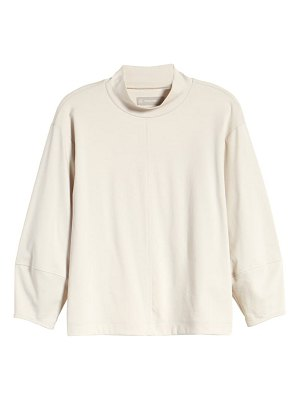 EVERLANE the luxe cotton mock neck top