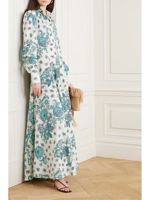 Evi Grintela jasmine pleated floral-print cotton-poplin maxi dress