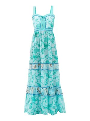 Evi Grintela magnolia countryside-print cotton maxi dress