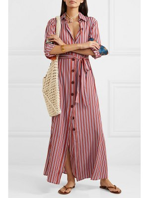 Evi Grintela valerie belted striped lyocell maxi dress