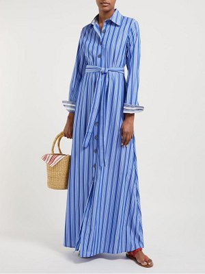 Evi Grintela valerie striped cotton maxi shirtdress
