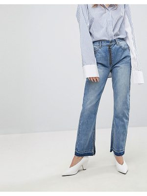 Evidnt slim jean with exposed zip-blue