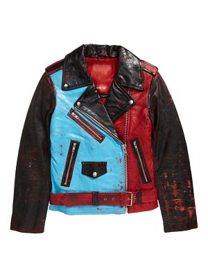 Exhibit69 deadly one of a kind reworked leather jacket