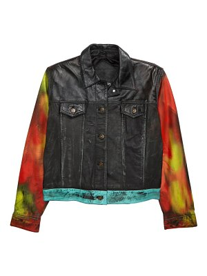 Exhibit69 love one of a kind reworked leather jacket