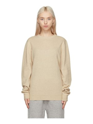 Extreme Cashmere beige cashmere nâ°128 be sweater