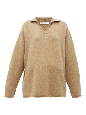 Extreme Cashmere no. 101 jules open collared cashmere blend sweater