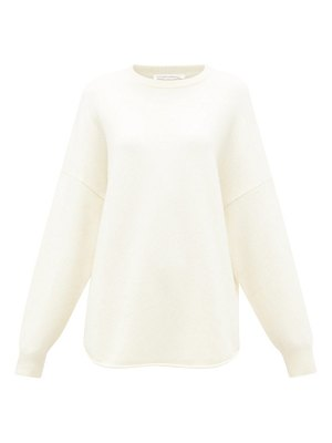 Extreme Cashmere no. 53 crew hop oversized cashmere-blend sweater