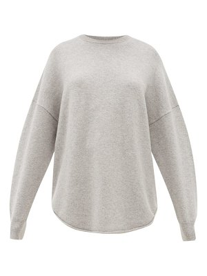 Extreme Cashmere no. 53 crew hop oversized stretch-cashmere sweater