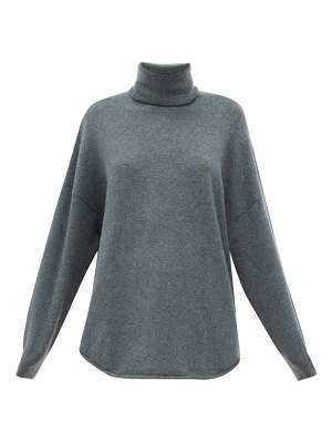 Extreme Cashmere no.52 roll wave stretch-cashmere sweater