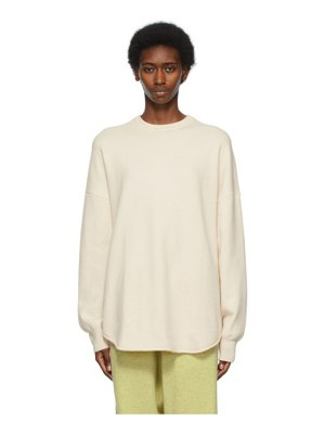Extreme Cashmere off-white n°53 crew hop sweater