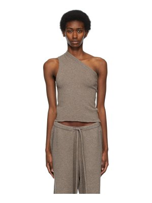 Extreme Cashmere taupe n°108 asymmetric tank top