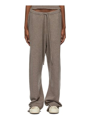 Extreme Cashmere taupe n°142 run lounge pants