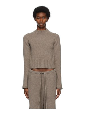 Extreme Cashmere taupe n°152 cherie sweater