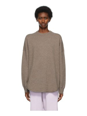 Extreme Cashmere taupe n°53 crew hop sweater